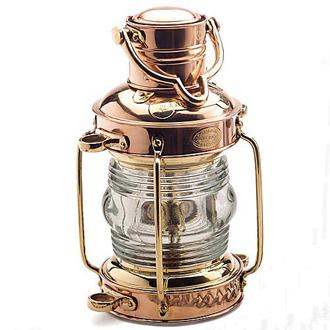 Mosiężna lampa nawigacyjna