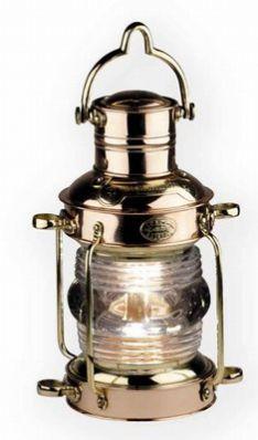 Mosiężna lampa pokładowa marynistyczna